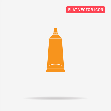 aftershave: Tube icon. Vector concept illustration for design.