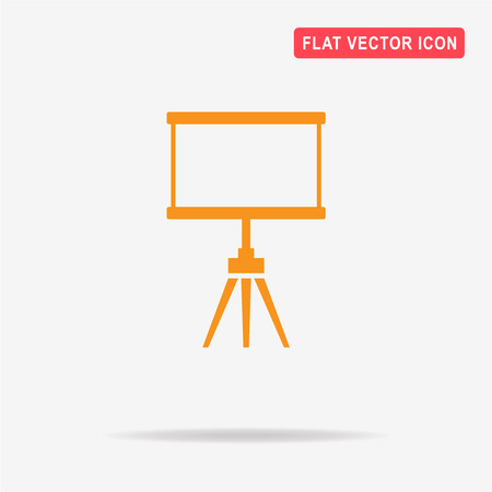 Blank projection screen icon. Vector concept illustration for design.