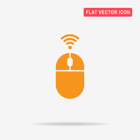 wireless mouse icon. Vector concept illustration for design.
