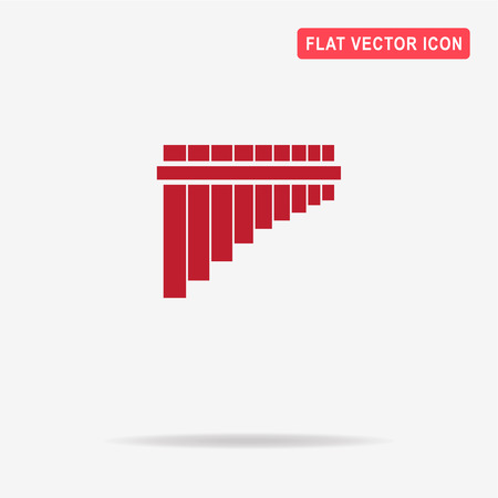 panpipe: Pan flute icon. Vector concept illustration for design. Illustration
