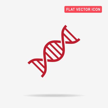 DNA icon. Vector concept illustration for design.