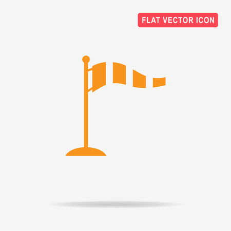 gale: Windsock icon. Vector concept illustration for design.