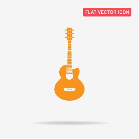 Acoustic guitar icon. Vector concept illustration for design.