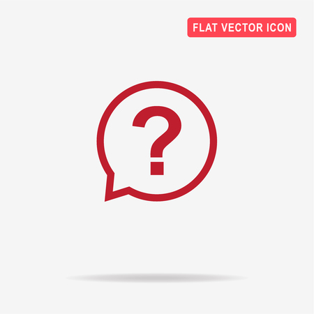 Question icon. Vector concept illustration for design. Illustration