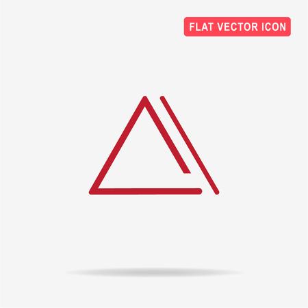 Music triangle icon. Vector concept illustration for design.