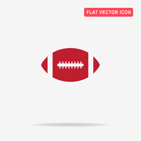 canadian football: American football ball icon. Vector concept illustration for design.