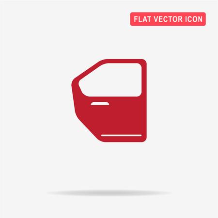 icona portiera della macchina. Illustrazione vettoriale concetto per il design.