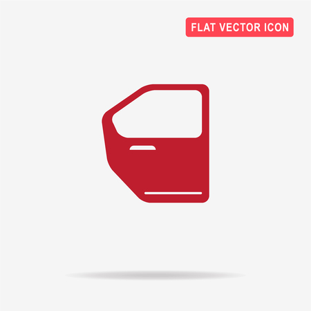 tinting: Car door icon. Vector concept illustration for design.