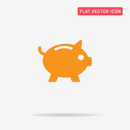 Piggy bank icon. Vector concept illustration for design. Illustration