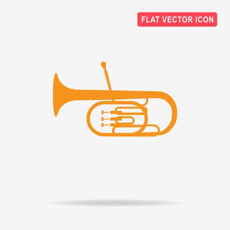 Tuba icon. Vector concept illustration for design.
