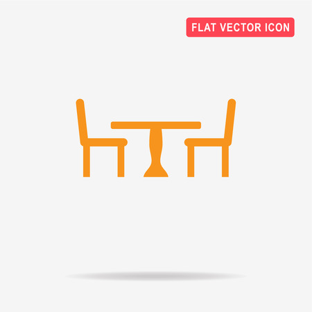 Table and chairs icon. Vector concept illustration for design.