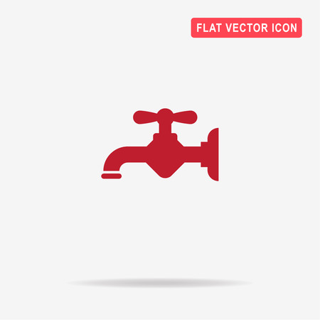 to trickle: Water faucet icon. Vector concept illustration for design. Illustration