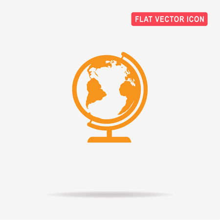 Geography earth globe icon. Vector concept illustration for design. Illustration