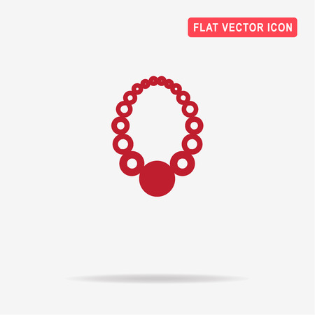 Necklace icon. Vector concept illustration for design.
