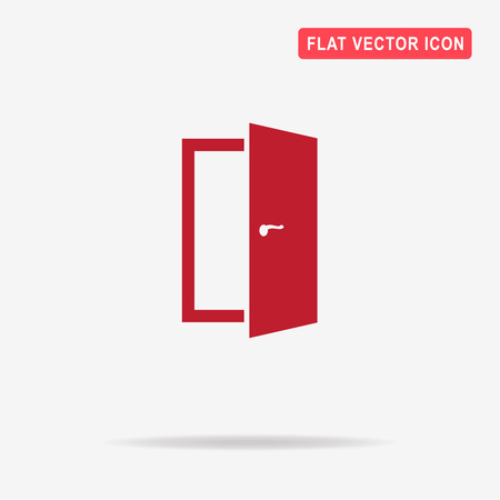 way of living: Door icon. Vector concept illustration for design.