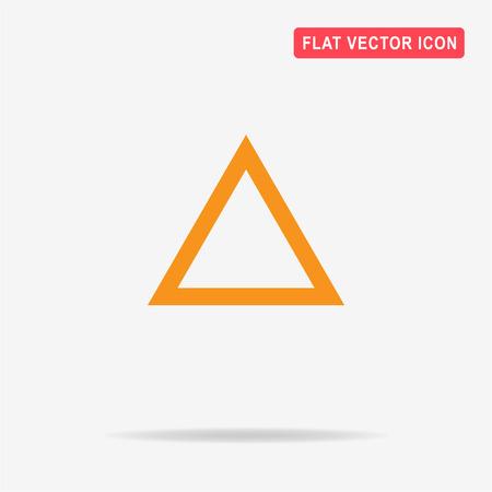 Triangle icon. Vector concept illustration for design.