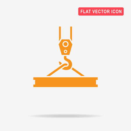 weight machine: Crane hook icon. Vector concept illustration for design.
