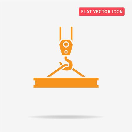 polea: icono de gancho de la grúa. Vector ilustración del concepto para el diseño.