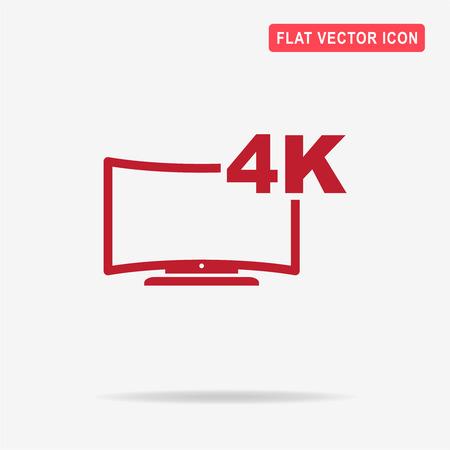 inch: 4k tv icon. Vector concept illustration for design. Illustration