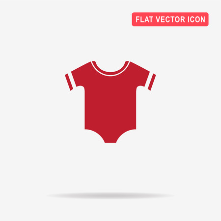 Baby clothes icon. Vector concept illustration for design.