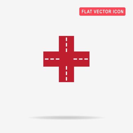 crossroad: Crossroad icon. Vector concept illustration for design.