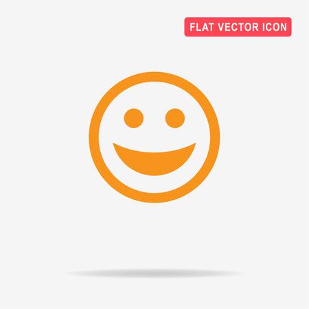 Smiley face icon. Vector concept illustration for design. Illustration