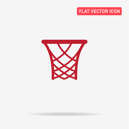 rim: Basketball rim icon. Vector concept illustration for design. Illustration