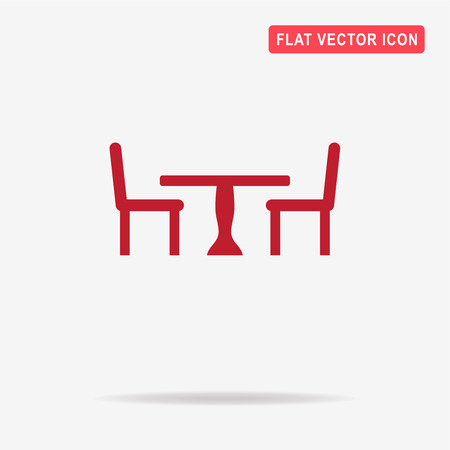 porch chair: Table and chairs icon. Vector concept illustration for design.
