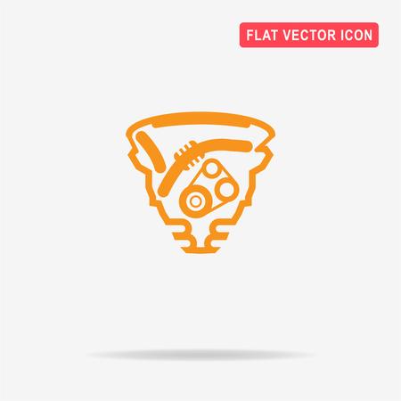 Motor-Symbol. Vektor-Konzept Illustration Für Design. Lizenzfrei ...