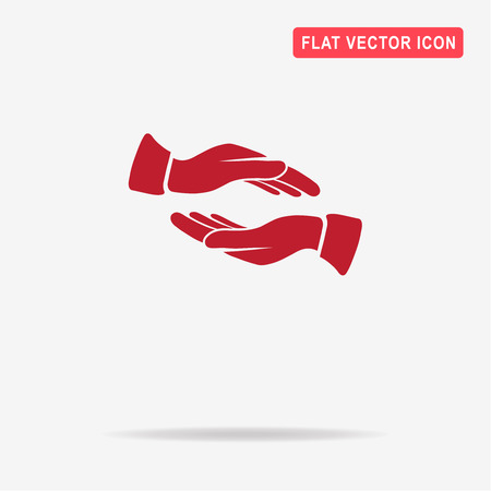 helpful: Hands icon. Vector concept illustration for design.