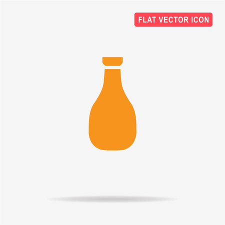 chinese food container: Soy sauce icon. Vector concept illustration for design. Illustration