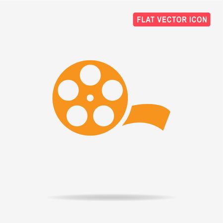 Film reel icon. Vector concept illustration for design. Illustration
