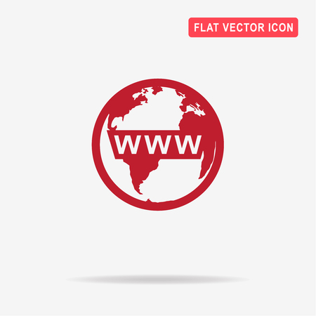 www concept: Www icon. Vector concept illustration for design.