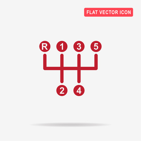 Manual transmission sign icon. Vector concept illustration for design. Vector Illustration