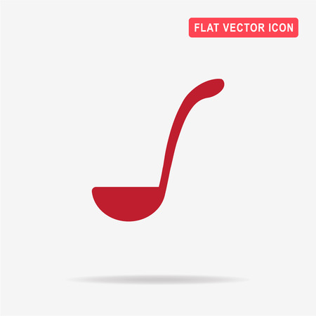 Soup ladle icon. Vector concept illustration for design. Illustration