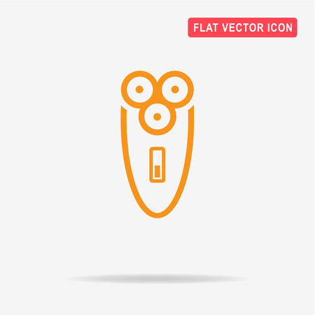 Electric shaver icon. Vector concept illustration for design.