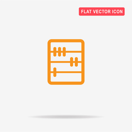 abacus: Abacus icon. Vector concept illustration for design. Illustration