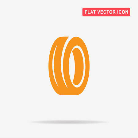 Road tire icon. Vector concept illustration for design.