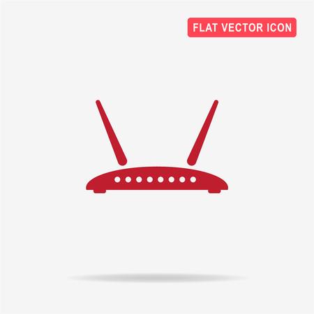 hub computer: Router icon. Vector concept illustration for design.