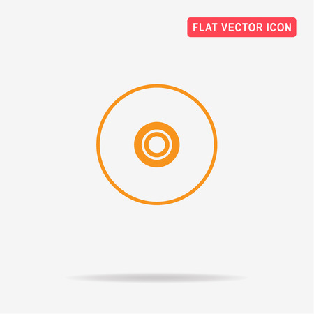 information medium: Compact disc icon. Vector concept illustration for design. Illustration