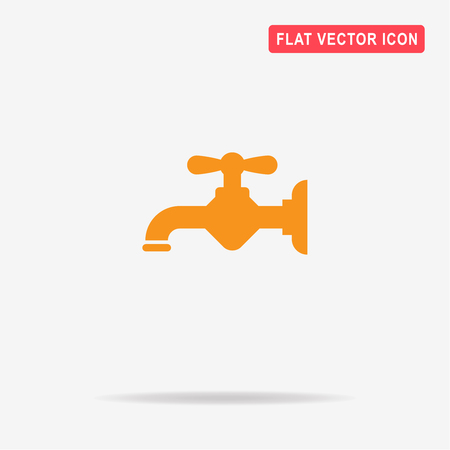 spare: Water faucet icon. Vector concept illustration for design. Illustration