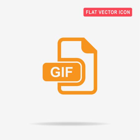 gif: Gif icon. Vector concept illustration for design. Illustration