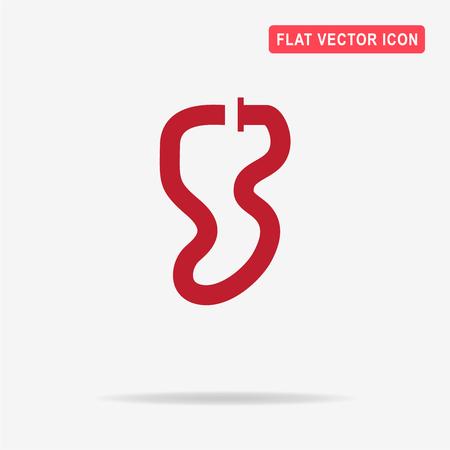 racecar: Race circuit icon. Vector concept illustration for design.