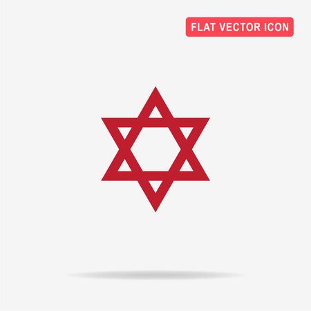 Star of David icon. Vector concept illustration for design. Illustration