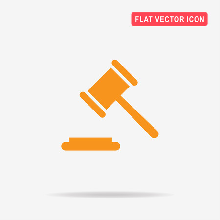 Judge gavel icon. Vector concept illustration for design.