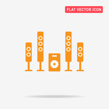 sub woofer: Home theater icon. Vector concept illustration for design.