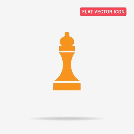 chessman: Chess figure icon. Vector concept illustration for design.