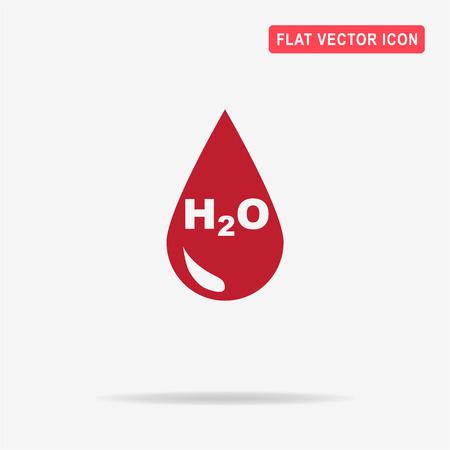 wetness: H2O icon. Vector concept illustration for design. Illustration
