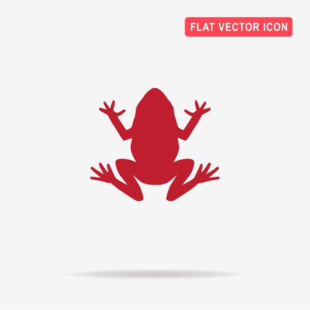 croaking: Frog icon. Vector concept illustration for design.