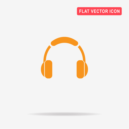 Headphones icon. Vector concept illustration for design.